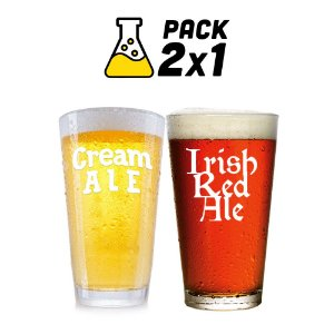 Kit Cerveja 2x1 Cerveja Cream Ale e Irish Red Ale - 10L