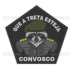 PATCH BORDADO COM VELCRO QUE A TRETA ESTEJA CONVOSCO