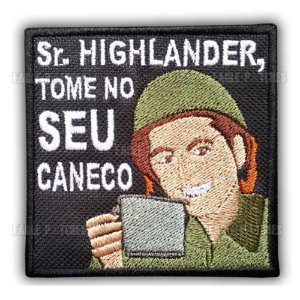 PATCH BORDADO COM VELCRO SR. HIGHLANDER