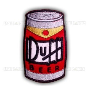 PATCH BORDADO COM VELCRO DUFF BEER