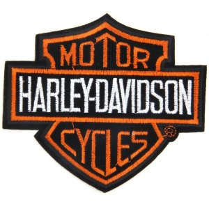 PATCH BORDADO COM VELCRO HARLEY DAVIDSON
