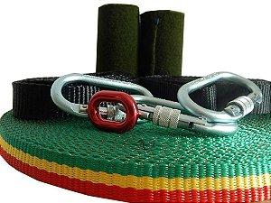 Kit Slackline Longline Wave Yoga Balance 25 metros