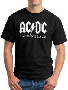 Camiseta AC DC Back In Black Preta