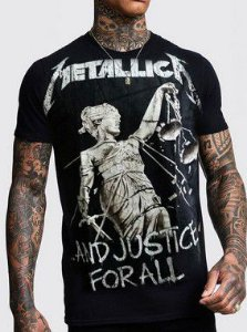 Camiseta Metallica And Justice For All Preta