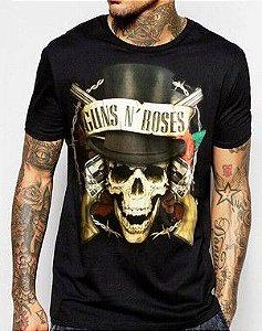 Camiseta Guns Slash Preta