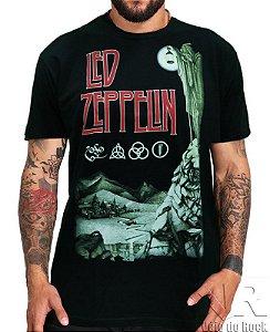 Camiseta Led Zeppelin Hermit Preta