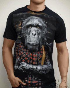 Camiseta Monkey Preta