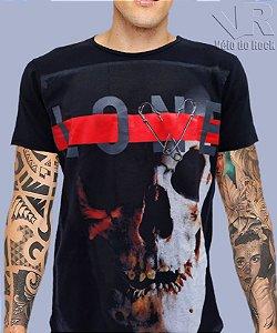 Camiseta Caveira Love Lone Preta