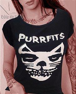 Blusa Feminina Cat Purrfits Preta