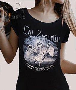 Blusa Feminina Cat Zeppelin Anjo Preta