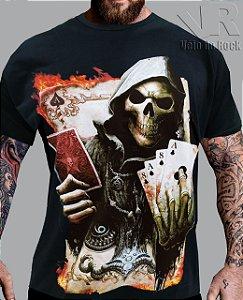 Camiseta Caveira Baralho