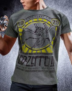 Camiseta Led Zeppelin Icaro Cinza