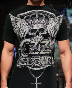 Camiseta Ozzy Caveira Preta