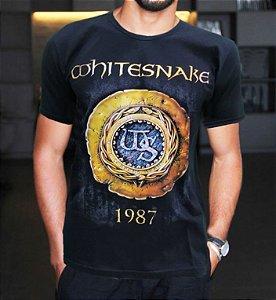Camiseta Whitesnake 1987 Preta