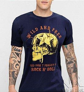 Camiseta Skull Motorcycle Slim
