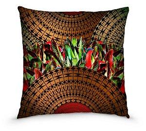 Kit com 04 capas de almofadas estampa Maori