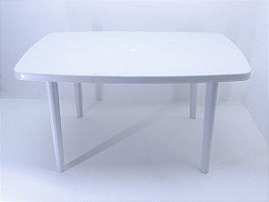 Mesa retangular Itaparica 85 X 137 cm - Branca. [Polipropileno]