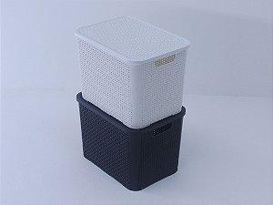 Caixa organizadora rattan 25 litros. [Polipropileno]