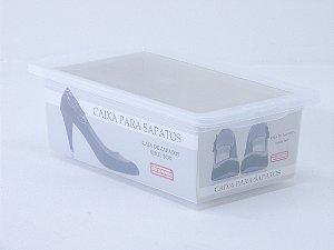 Caixa organizadora para sapato feminino. [Polipropileno]