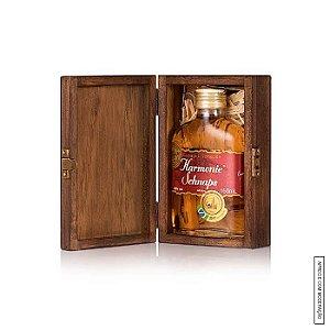 Kit Presente 1 Cachaça Envelhecida Amburana 160ml em Estojo de Madeira