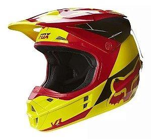Capacete Para Quadri FOX V1 Race - Amarelo