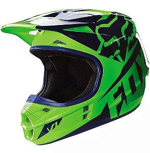 Capacete Para Quadri FOX V1 Race - Verde Fluo