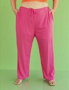 Calça Pantalona Plus Size Com Cordão Ajustável Julia Plus