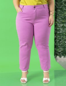 Calça Jeans Reta Plus Size Color Julia Plus