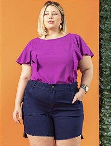 Bermuda Jeans Curta Plus Size com Puídos Julia Plus