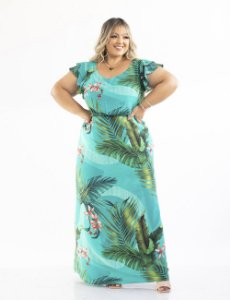 VESTIDO PLUS SIZE LONGO ESTAMPADO JULIA PLUS