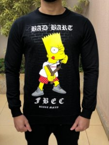 Blusa Moletom Bad Bart Black