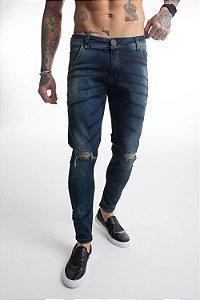 Calça Jeans Preta Rajada