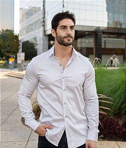 Camisa Prata Acetinado