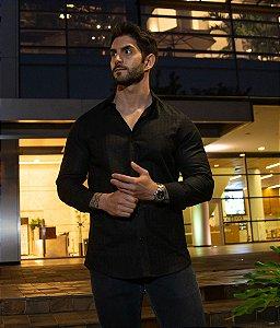 Camisa Preto Xadrez Maquinetado