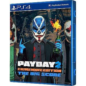JOGO PS4 PAYDAY 2 THE BIG SCORE