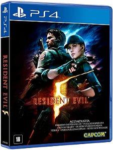 JOGO PS4 RESIDENT EVIL 5  REMASTERED
