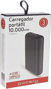 XTRAX CARREGADOR PORTATIL 10000MAH PRETO XTRPX-P10