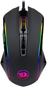 REDRAGON MOUSE GAMER RANGER PRETO RGB 12400 DPI M910