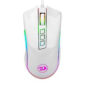 REDRAGON MOUSE GAMER COBRA LUNAR BRANCO COM LED RGB M711W