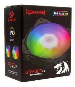 REDRAGON KIT COOLER COM 3 FANS RGB 120X25MM GC-F007