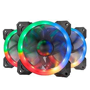 REDRAGON KIT COOLER COM 3 FANS RGB 120X25 MM GC-F008