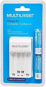MULTILASER CARREGADOR DE PILHA CB048 COM 2 PILHAS