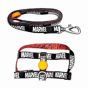 Guia Com Coleira Marvel - Tamanho M
