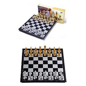 Xadrez Medieval Prata e Ouro 36x36