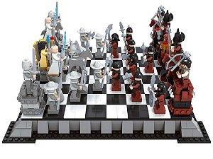 Xadrez de de Mini Blocos - Inspiração Lego