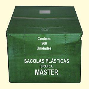Sacola plástica 38x48cm branca Master c/800