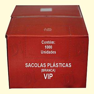 Sacola plástica 38x48cm branca VIP c/1000 unid