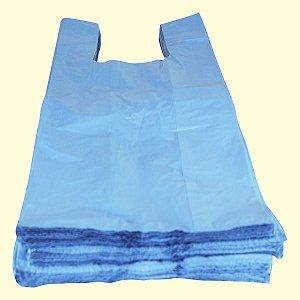 Sacola plástica 50x60cm color reciclada azul - 5Kg Fdo
