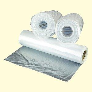 Bobina plástica saco 24x35 - 3Lt 0,03 Solda fundo