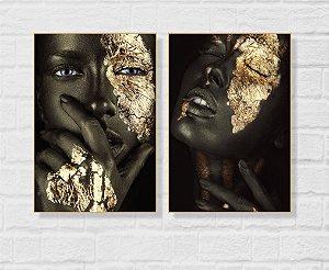 Quadro Decorativo 70X100 - 02 Africanas